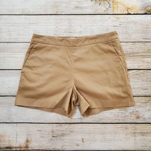 Everlane Camel Brown Tan High Rise Chino Shorts